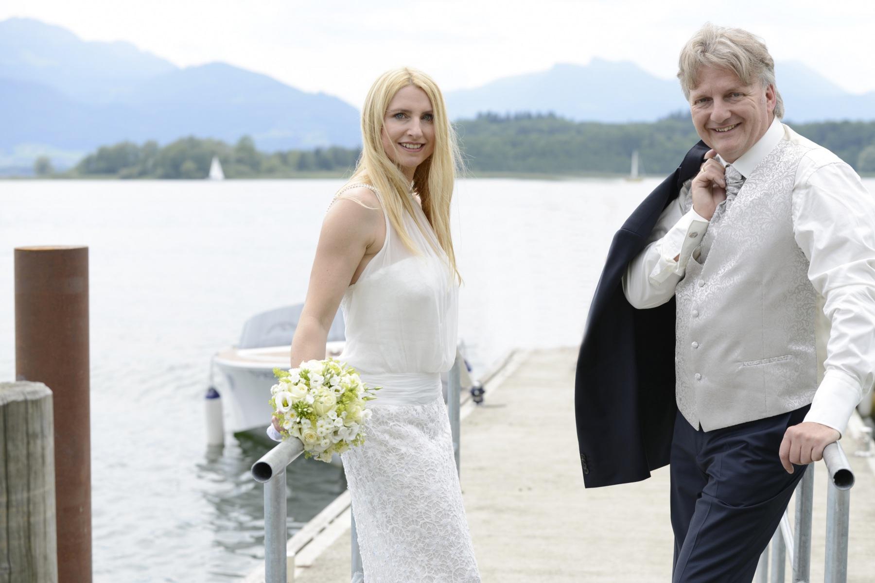 Hochzeitsfotografie auf der Fraueninsel im Chiemsee © Fotostudio Werner Blauhorn in Prien